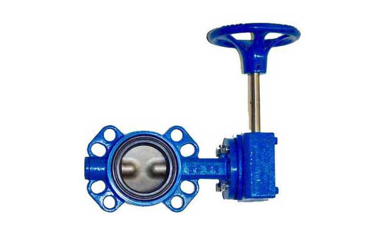 Butterfly Valve DI NP Disc Wafer Buna Seat Size 6